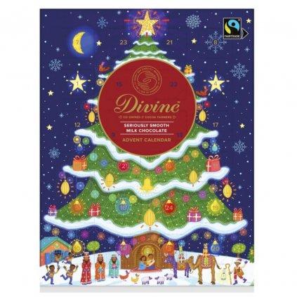 Fairtrade adventní kalendář Divine se srdíčky, 26 % kakaa