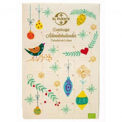 Fair trade bio adventní kalendář s datlovými lanýži z Egypta, 240 g