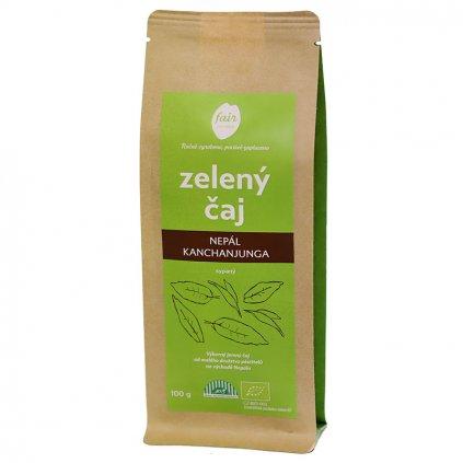 Fair trade bio zelený čaj sypaný Nepál Kanchanjunga, 100 g
