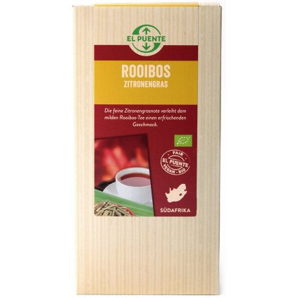 fair trade bio rooibos citronova trava sypany 120g
