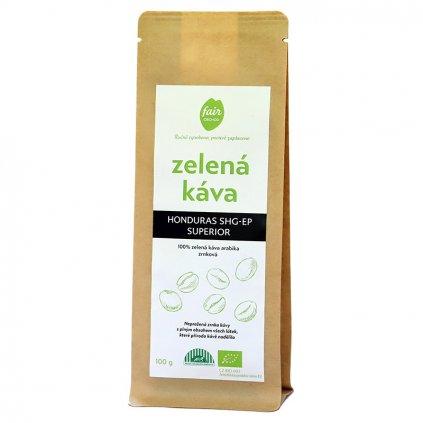 Fair trade bio zelená káva Honduras zrnková 100 g