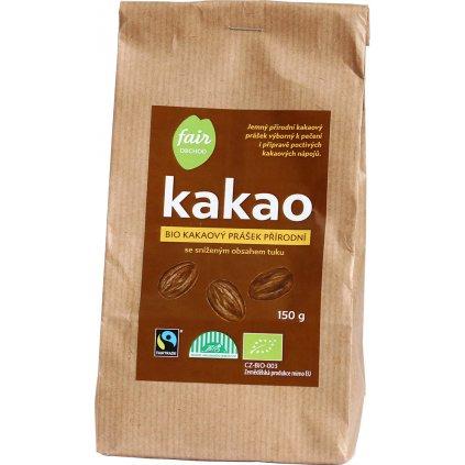 bio fairtrade kakaovy prasek prirodni snizeny obsah tuku 150g