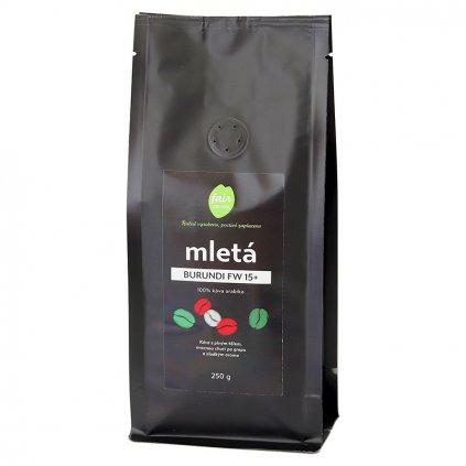 Fair trade mletá káva Burundi FW 15+, 250 g