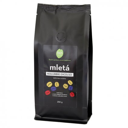 Fair trade mletá káva Kolumbie Excelso, 250 g