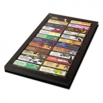 Fair trade kolekce bio čokolád Zotter v dárkové kazetě, 24 druhů