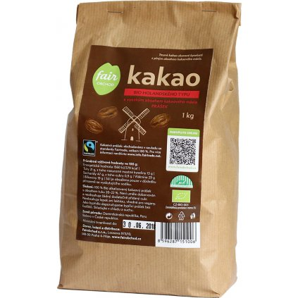 bio fairtrade kakaovy prasek tmavy plnotucny 1000g