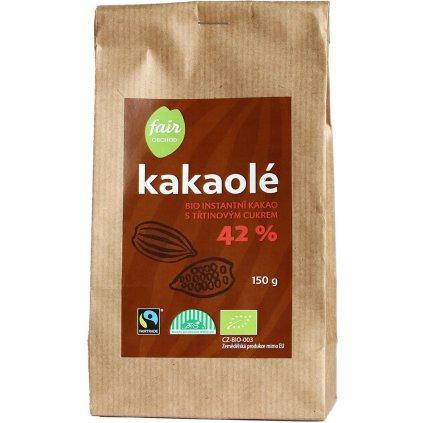 bio fairtrade instantni kakao kakaole 42% 150g