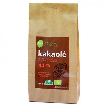 Fair trade bio rozpustné kakao Kakaolé s třtinovým cukrem 250 g