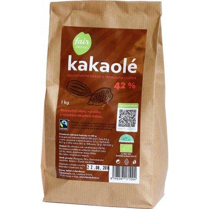 bio fairtrade instantni kakao kakaole 42% 1000g