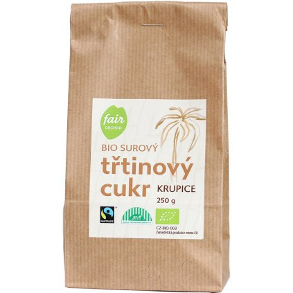 bio fairtrade trtinovy cukr 250g