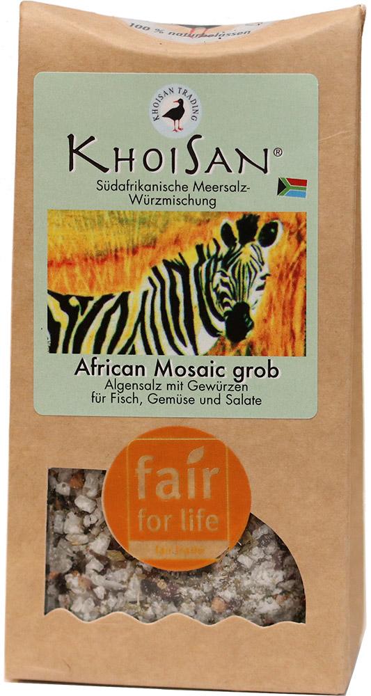 KhoiSan mořská bylinná sůl Africká mozaika hrubá, 125 g Fair for Life