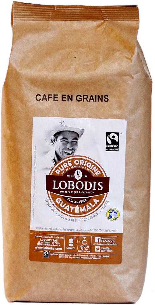 Lobodis Zrnková káva z Guatemaly, 1 kg Fairtrade