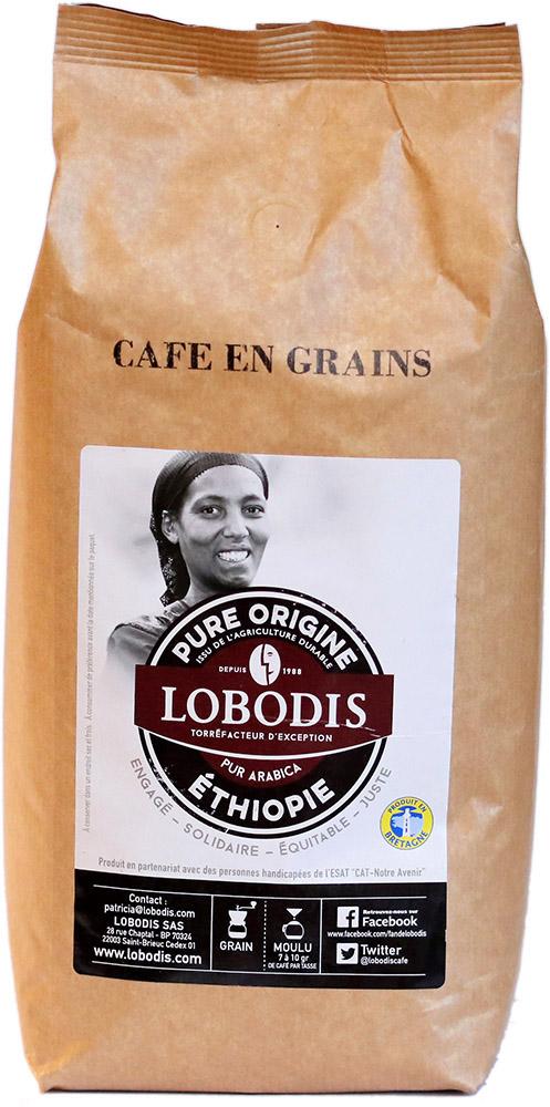 Lobodis Zrnková káva z Etiopie, 1 kg Fair Trade