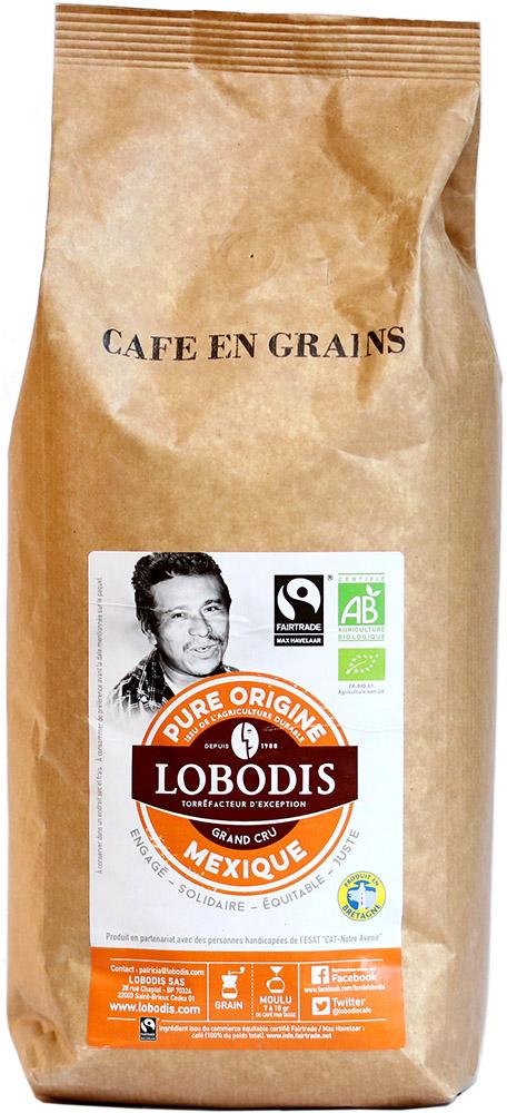 Lobodis Bio zrnková káva z Mexika, 1 kg Fairtrade