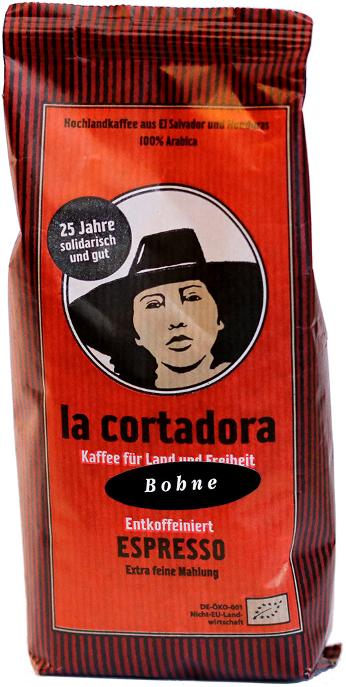 El Puente Bio zrnková káva bez kofeinu La Cortadora, 200 g Fair Trade