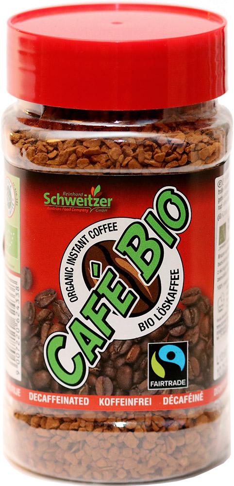 Schweitzer Bio instantní káva bez kofeinu, 100 g Fairtrade
