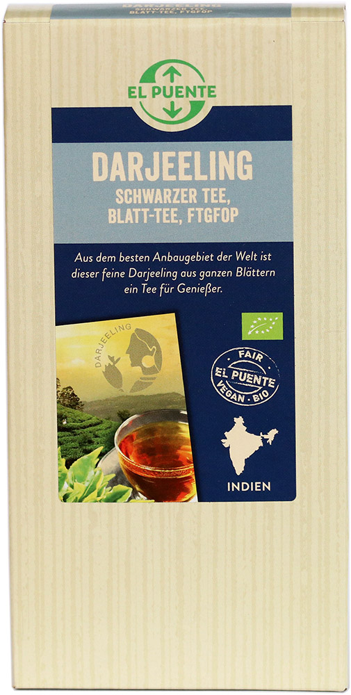 El Puente Bio sypaný černý čaj Darjeeling FTGFOP, 90 g Fair Trade