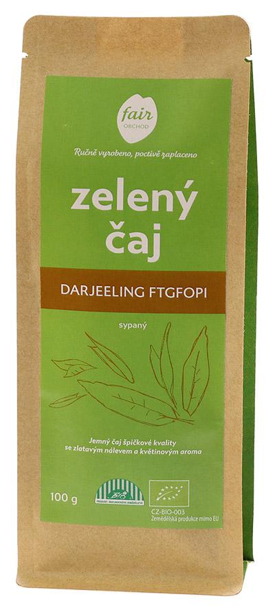 Fairobchod Bio sypaný zelený čaj Darjeeling FTGFOP1, 100 g Fair Trade