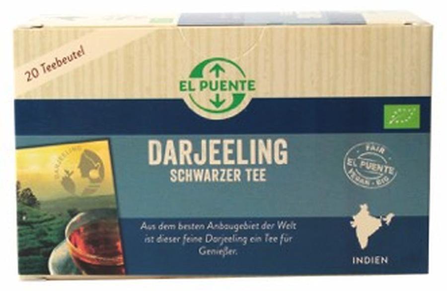El Puente Bio porcovaný černý čaj Darjeeling, 20x1,8 g Fair Trade