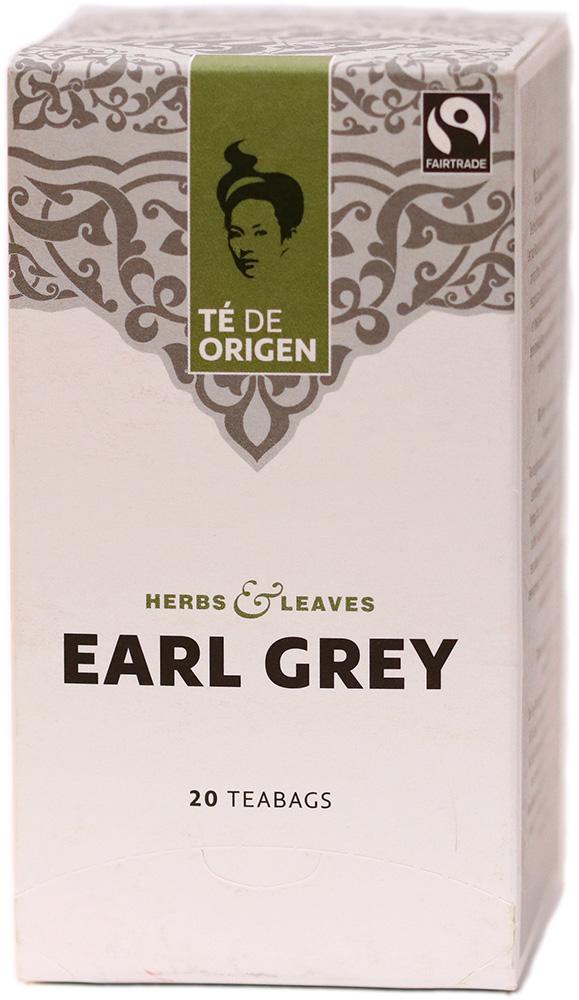 Té de Origen Bio porcovaný černý čaj Earl Grey, 20x2 g Fairtrade