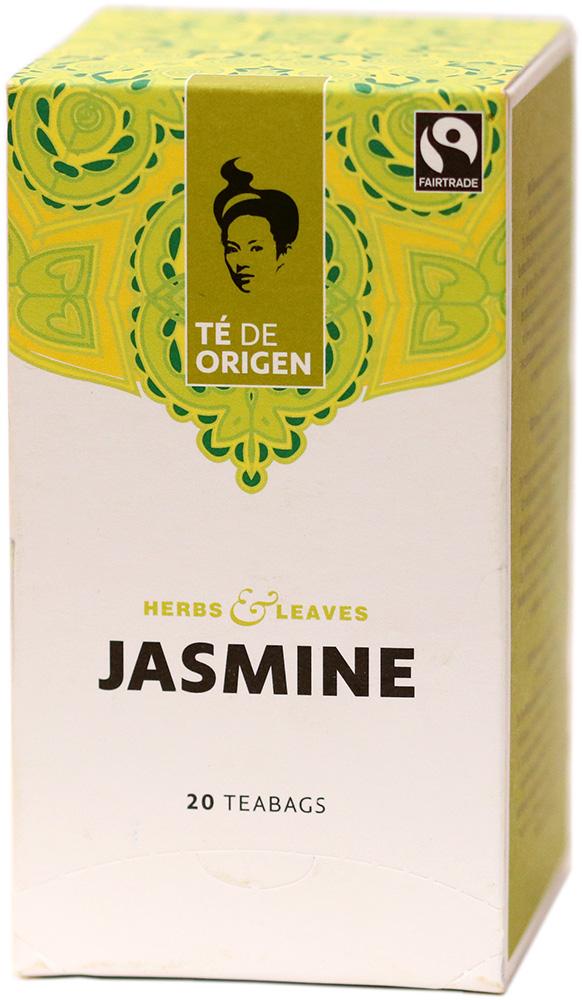 Té de Origen Bio porcovaný zelený čaj jasmínový, 20x2 g Fairtrade