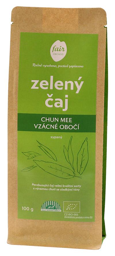 Fairobchod Bio sypaný zelený čaj Chun Mee Vzácné obočí z Číny, 100 g