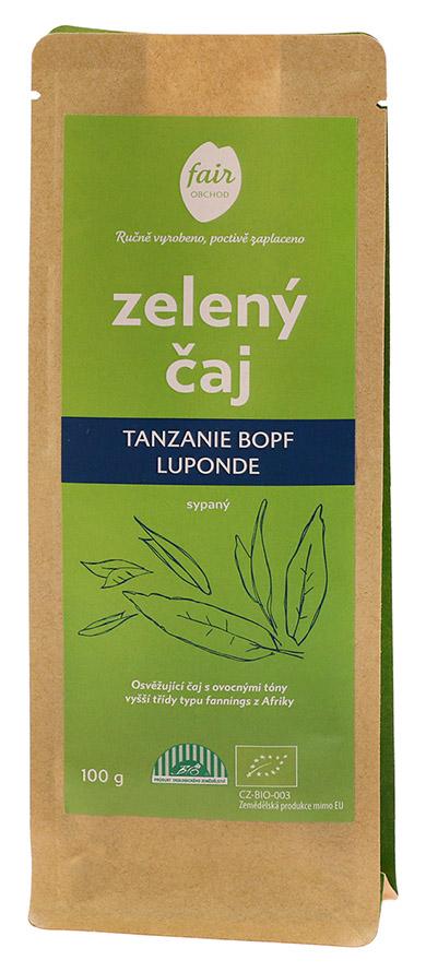 Fairobchod Bio sypaný zelený čaj Tanzanie BOPF Luponde, 100 g