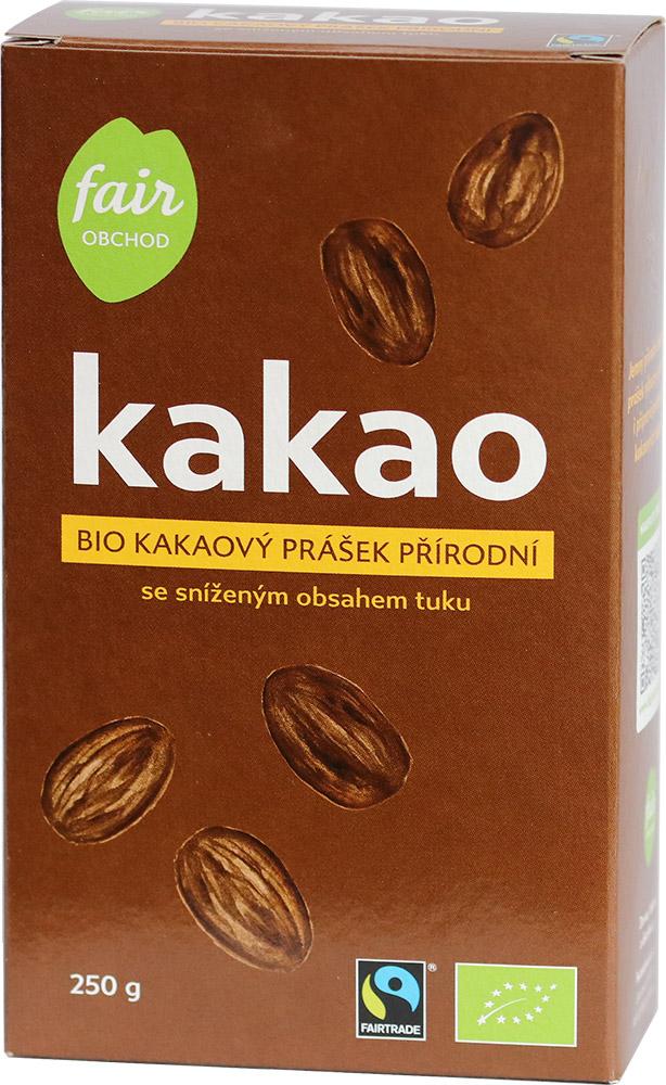 Bio kakaový prášek přírodní se sníženým obsahem tuku, 250 g Fairtrade