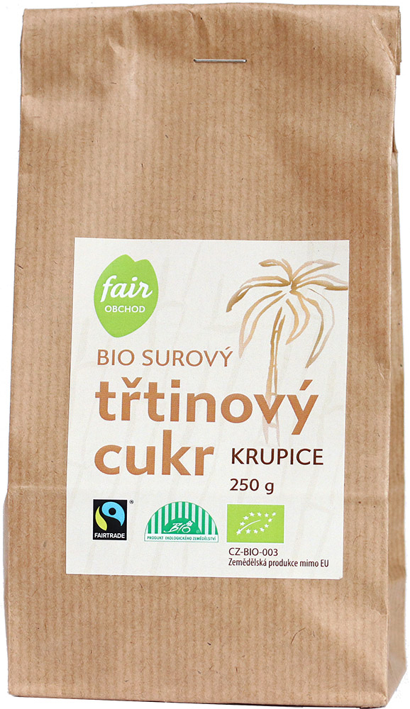 Fairobchod Bio třtinový cukr, 250 g Fairtrade