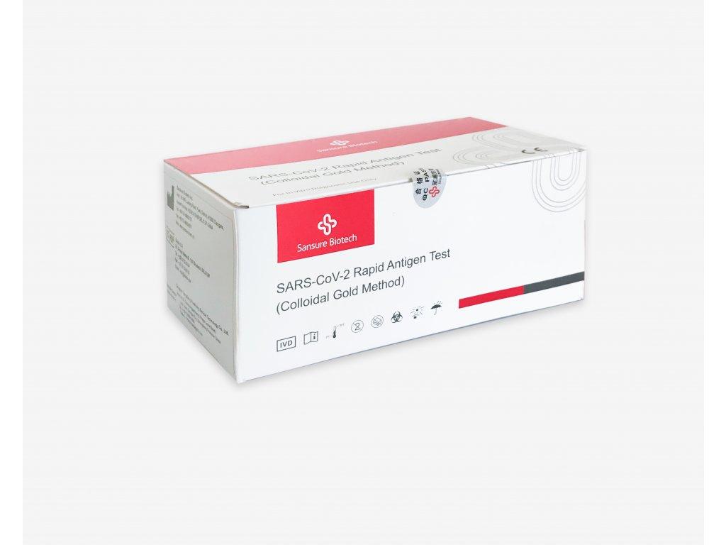 25 kusů antigenních rychlotestů na COVID-19  (59,96,-  / kus)
