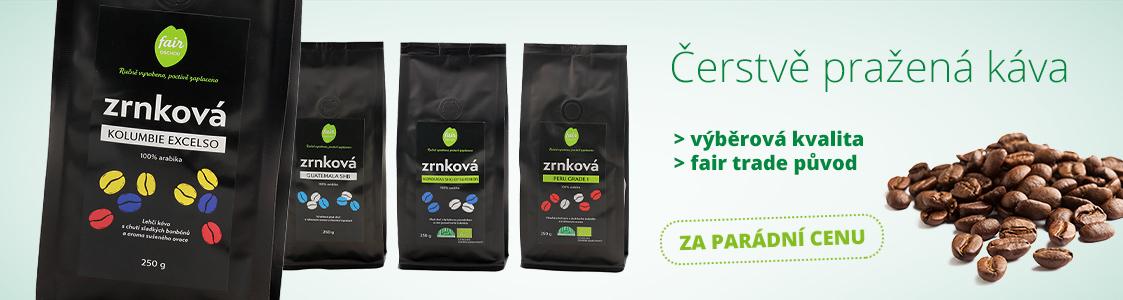 Fair trade čerstvě pražené kávy