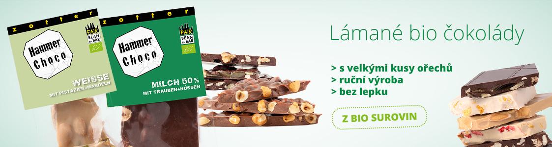 Bio lámané čokolády Zotter
