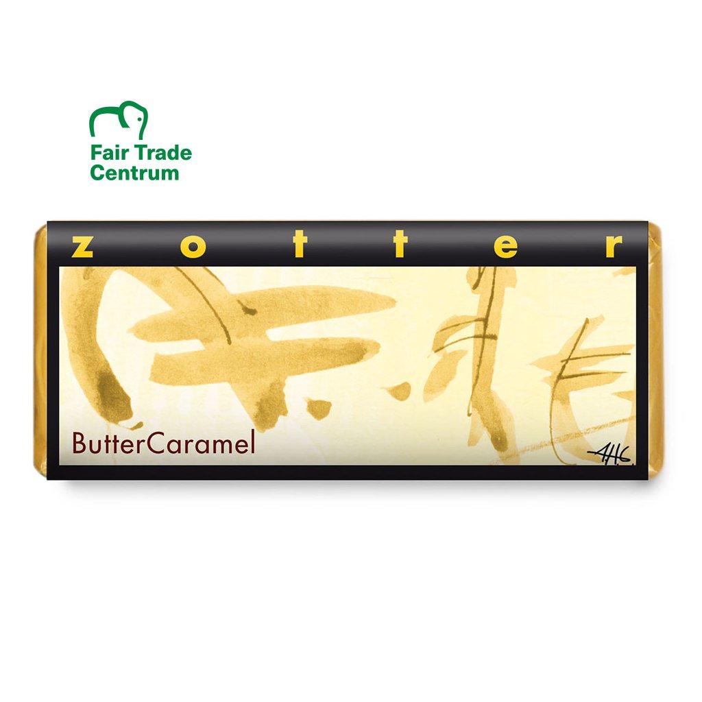 Fair trade bio mléčná čokoláda Zotter Máslový karamel, 70 g