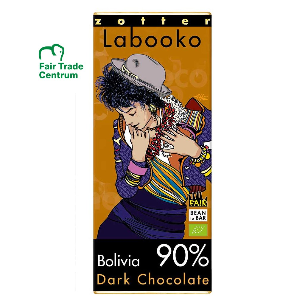 Fair trade bio hořká čokoláda Zotter Bolívie 90 %