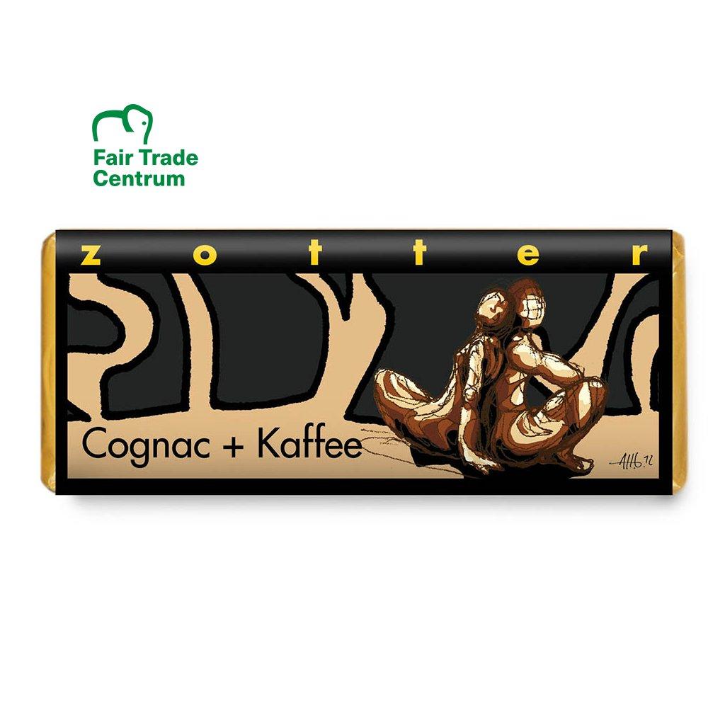 Fair trade bio kávová čokoláda Zotter Koňak a káva, 70 g