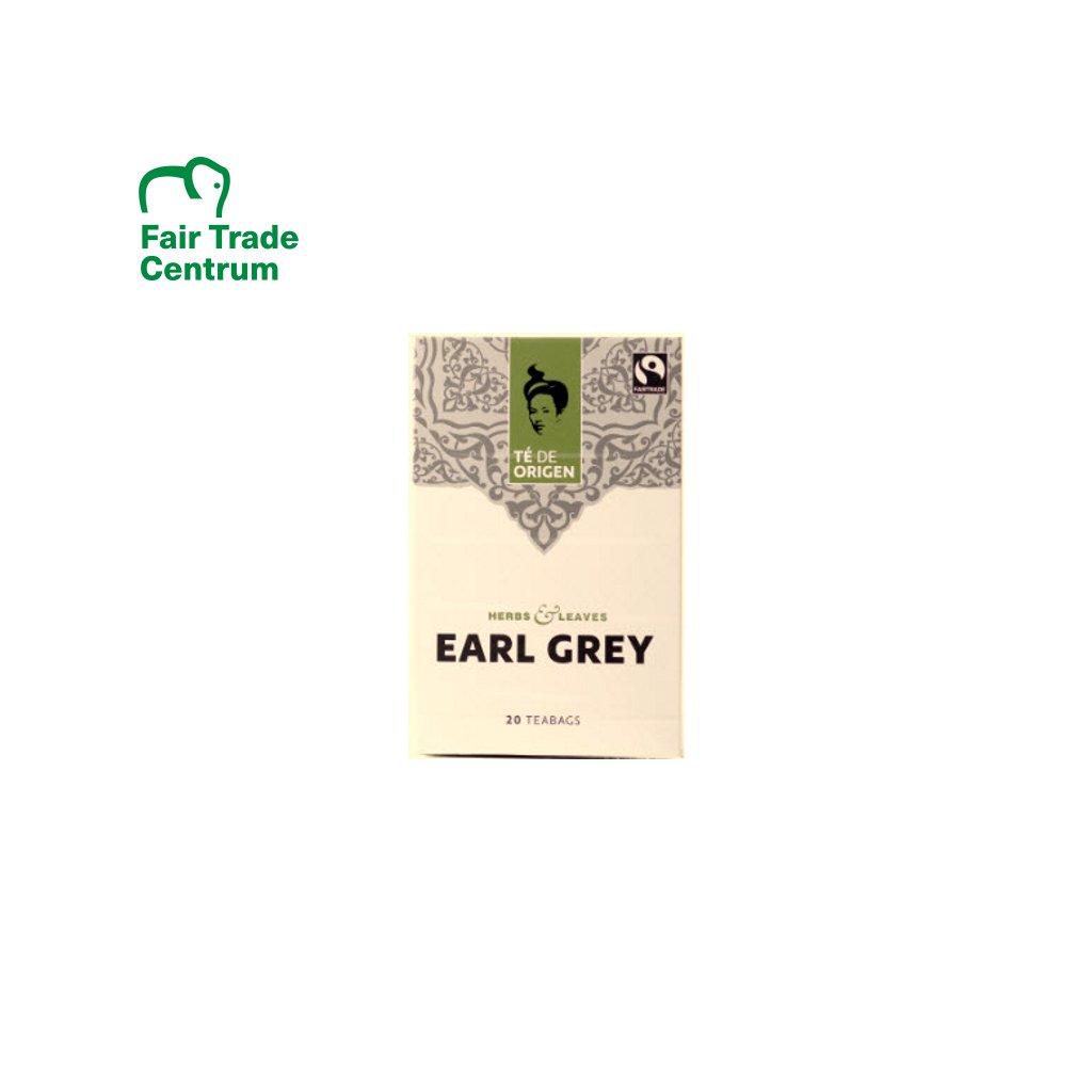 Bio černý čaj Earl Grey, porcovaný 20x2 g