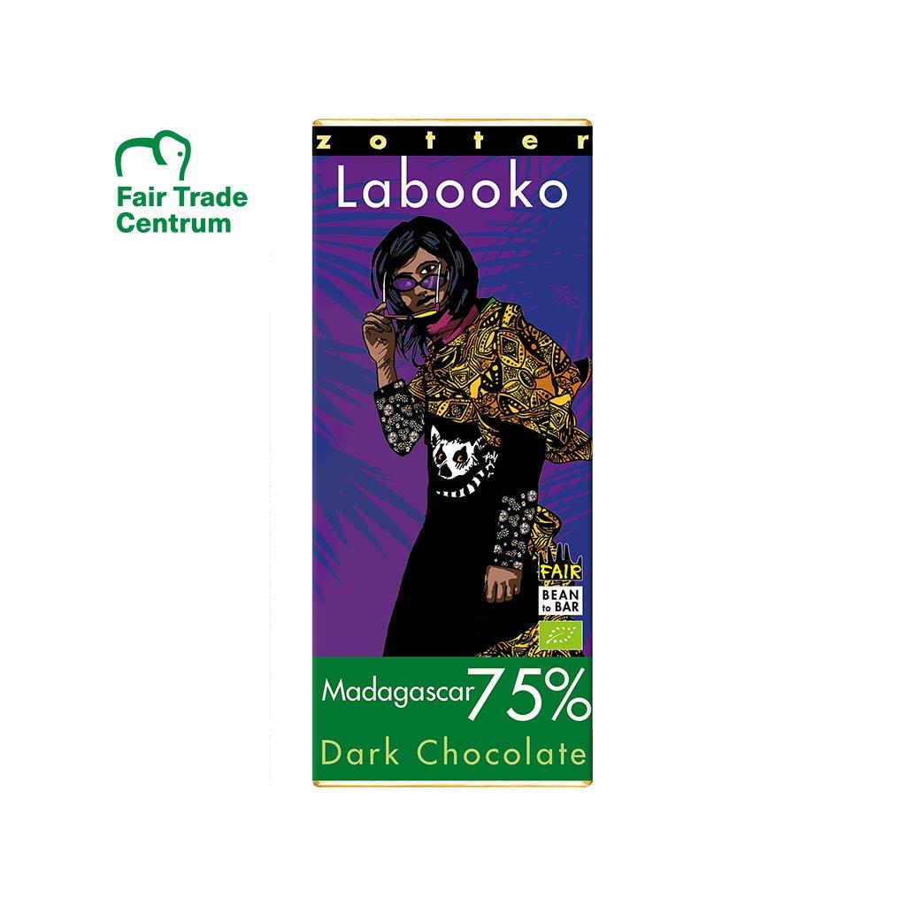 Fair trade bio hořká čokoláda Zotter Madagaskar 75 % kakaa