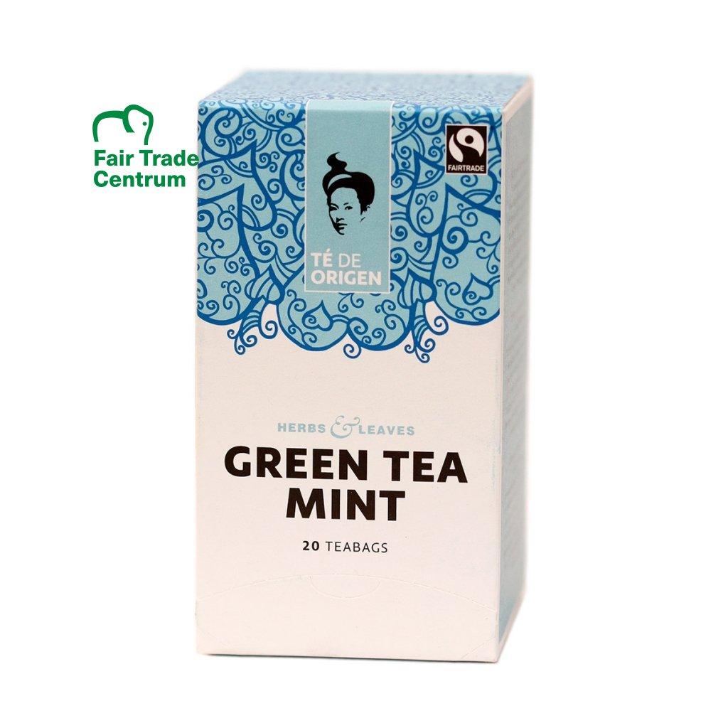 Fairtrade bio zelený čaj s mátou ze Šrí Lanky