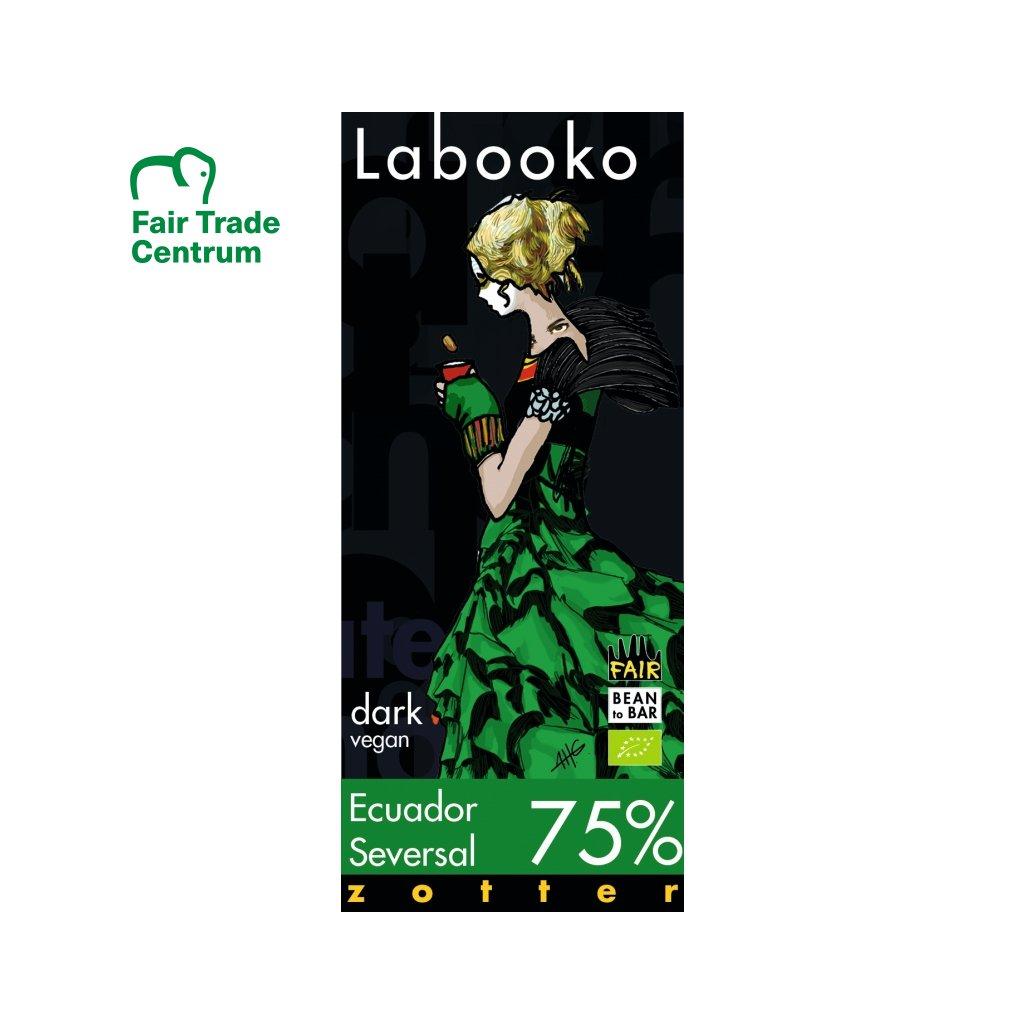 Fair Trade bio hořká čokoláda Zotter Ekvádor Seversal 75 %