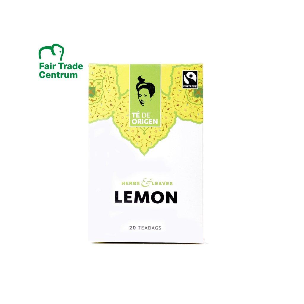 Bio černý čaj s citrónovou trávou, porcovaný 20x2 g