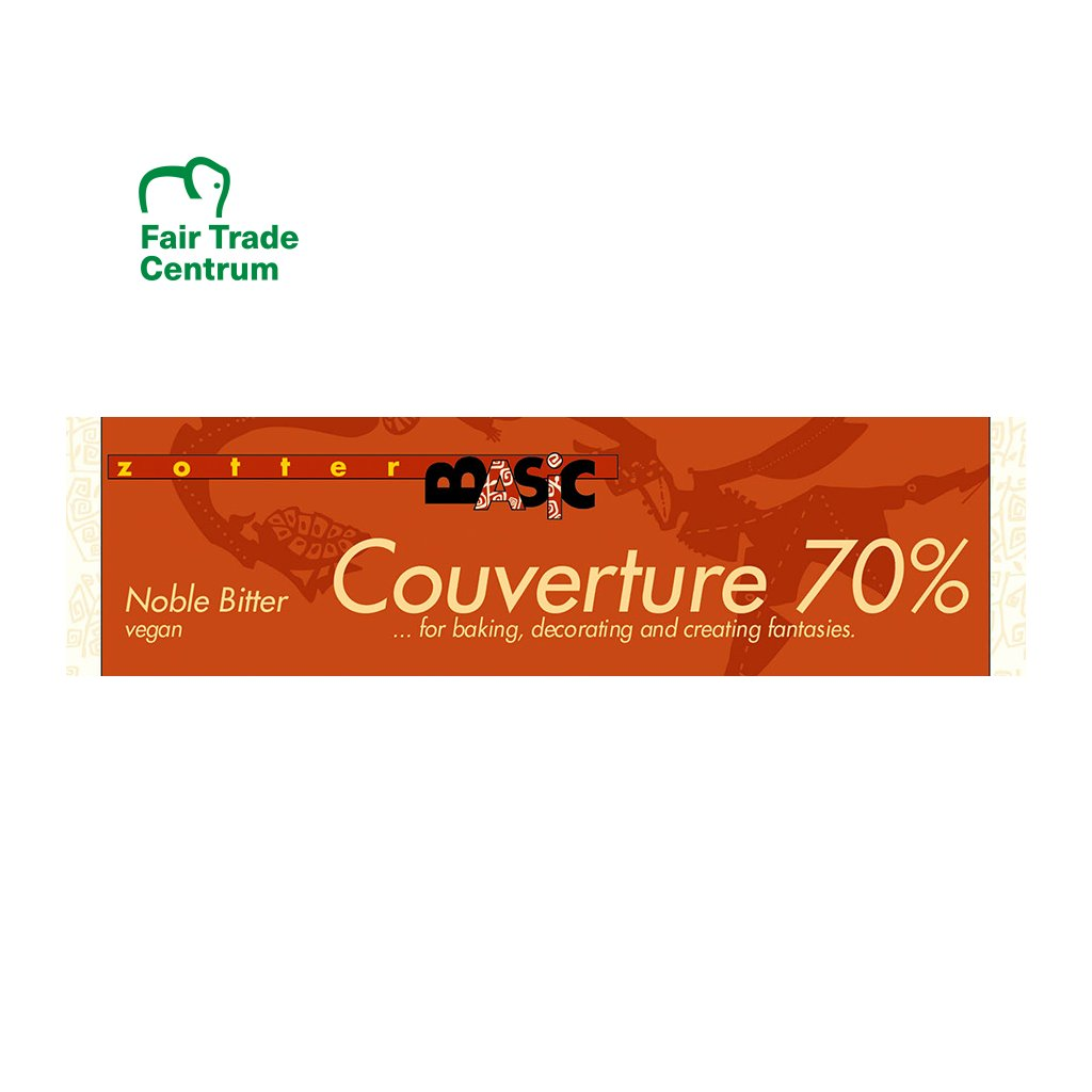 fairtrade bio cokolada couverture zotter 70 %