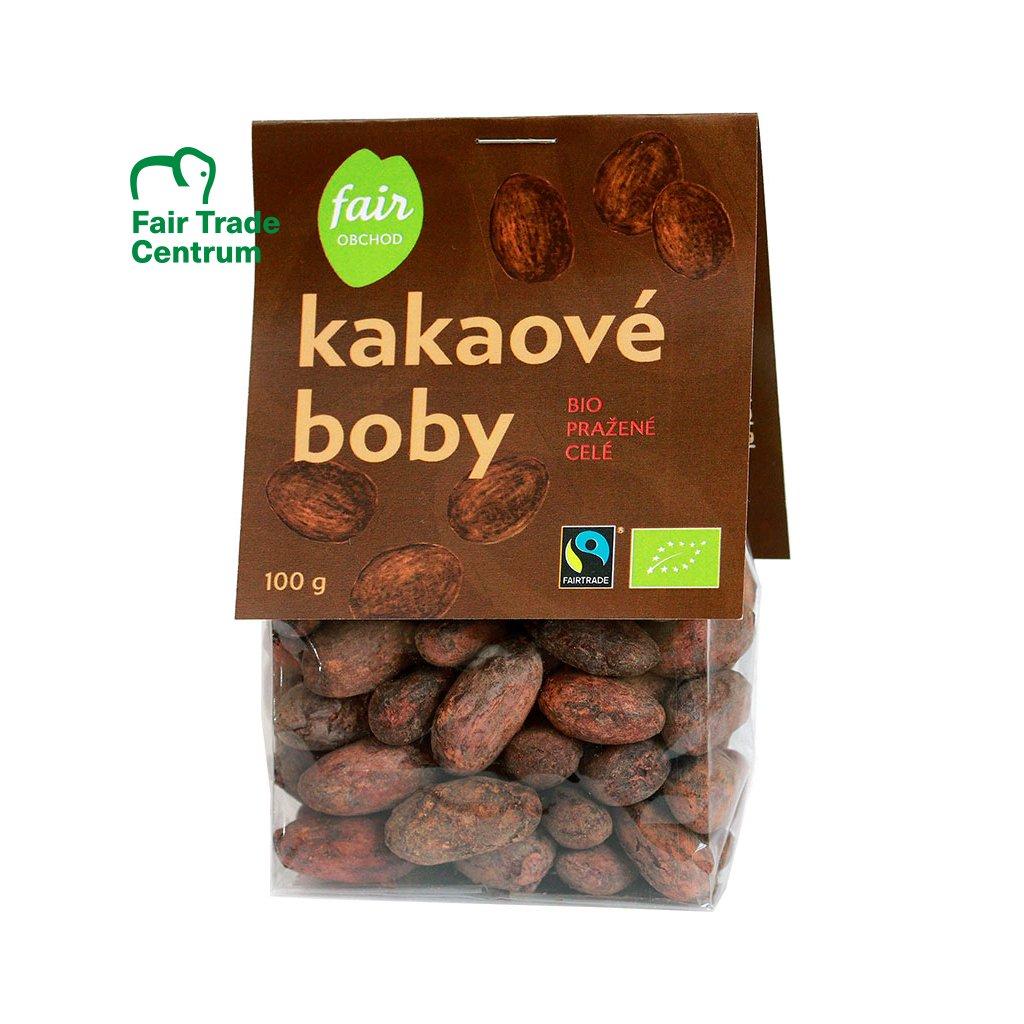 bio fairtrade kakaove boby prazene 100 g