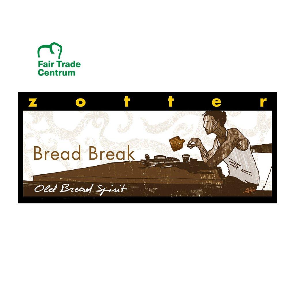 Fair Trade bio hořká čokoláda Zotter Chvilka s chlebovou pálenkou