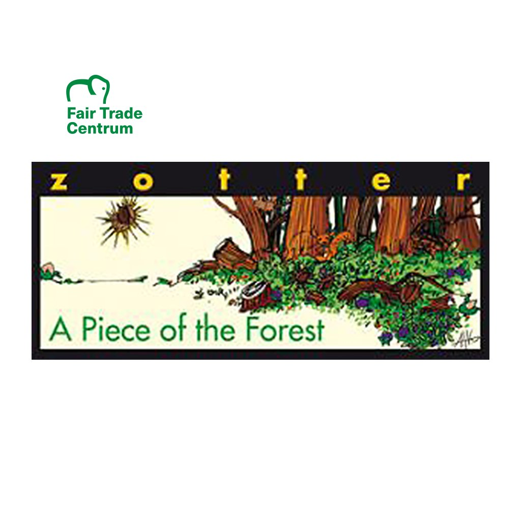 Fair Trade bio mléčná čokoláda Zotter Kousek lesa