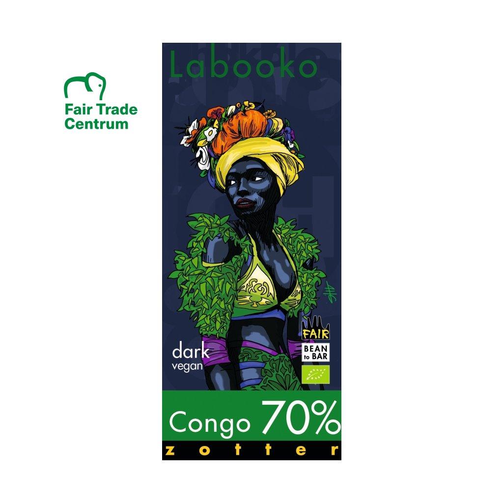 Fair Trade bio hořká čokoláda Zotter Kongo 70 % kakaa