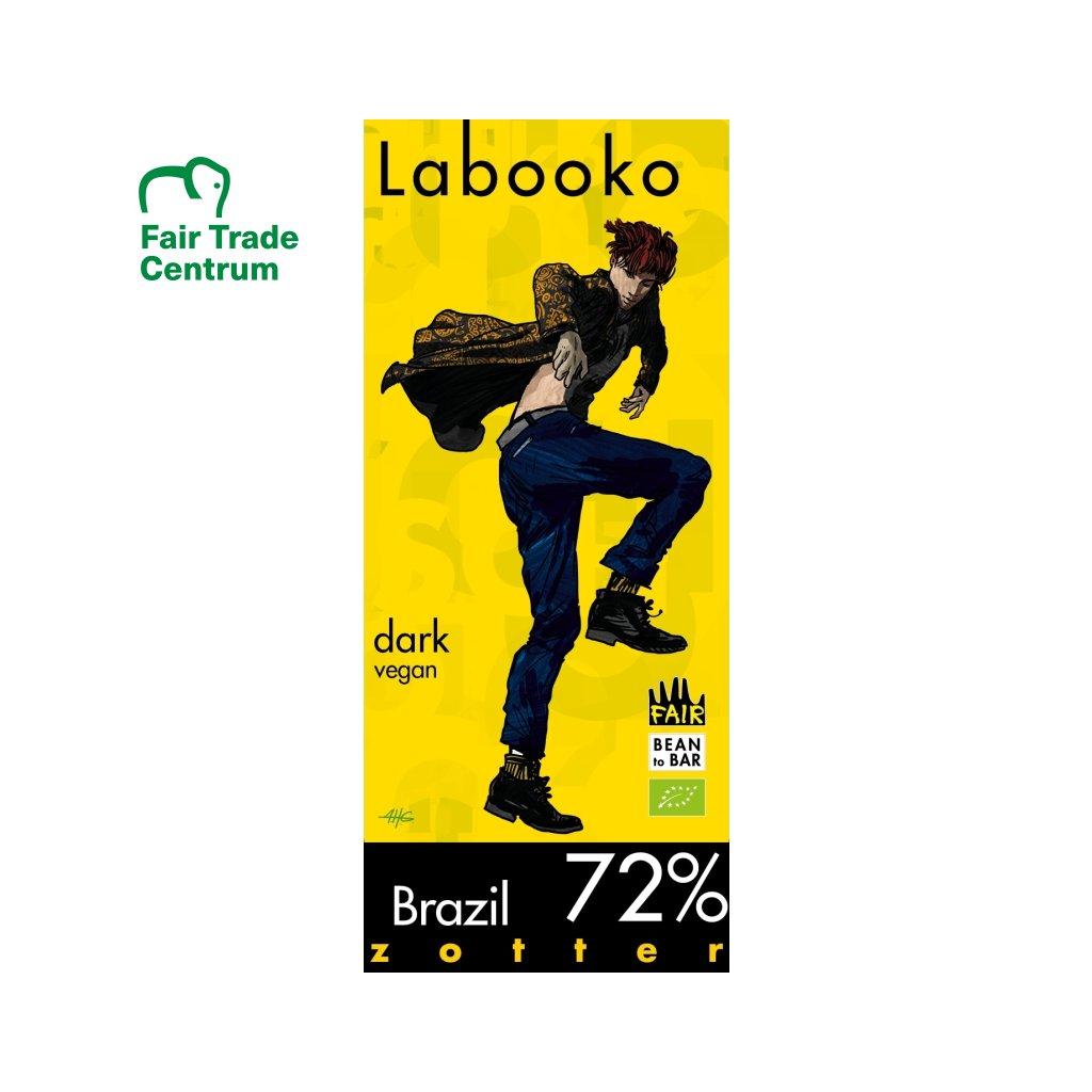 Fair Trade bio hořká čokoláda Zotter Brazil 72 %