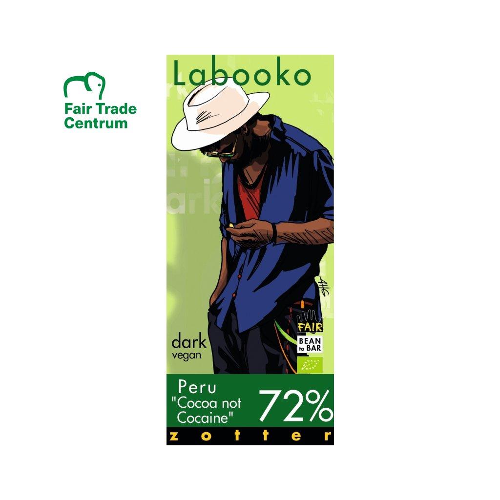 Fair Trade bio hořká čokoláda Zotter Peru kakao ne kokain