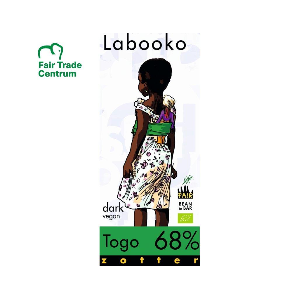 Fair Trade bio hořká čokoláda Zotter Togo 68 %