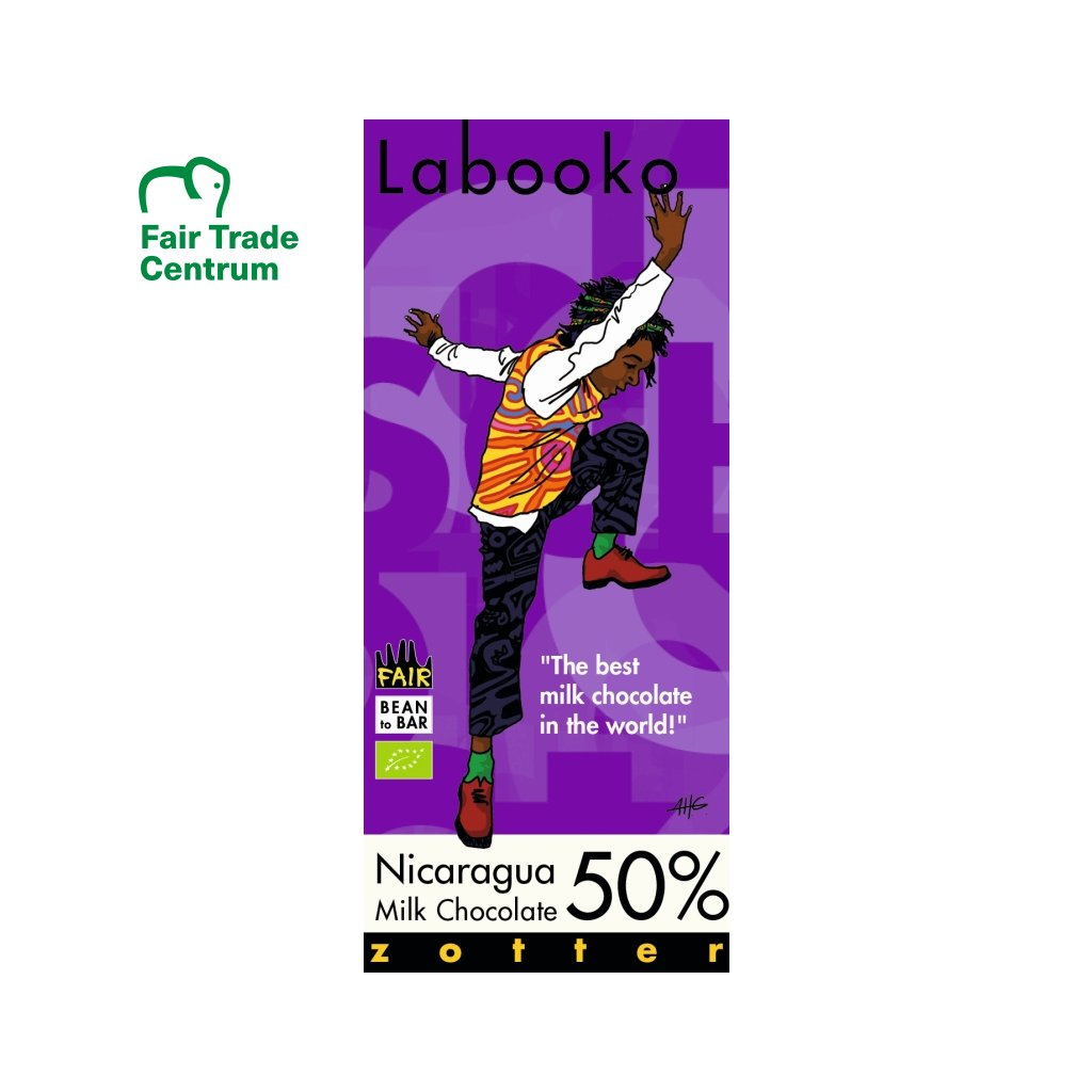 Fair Trade bio mléčná čokoláda Zotter Nikaragua 50 %