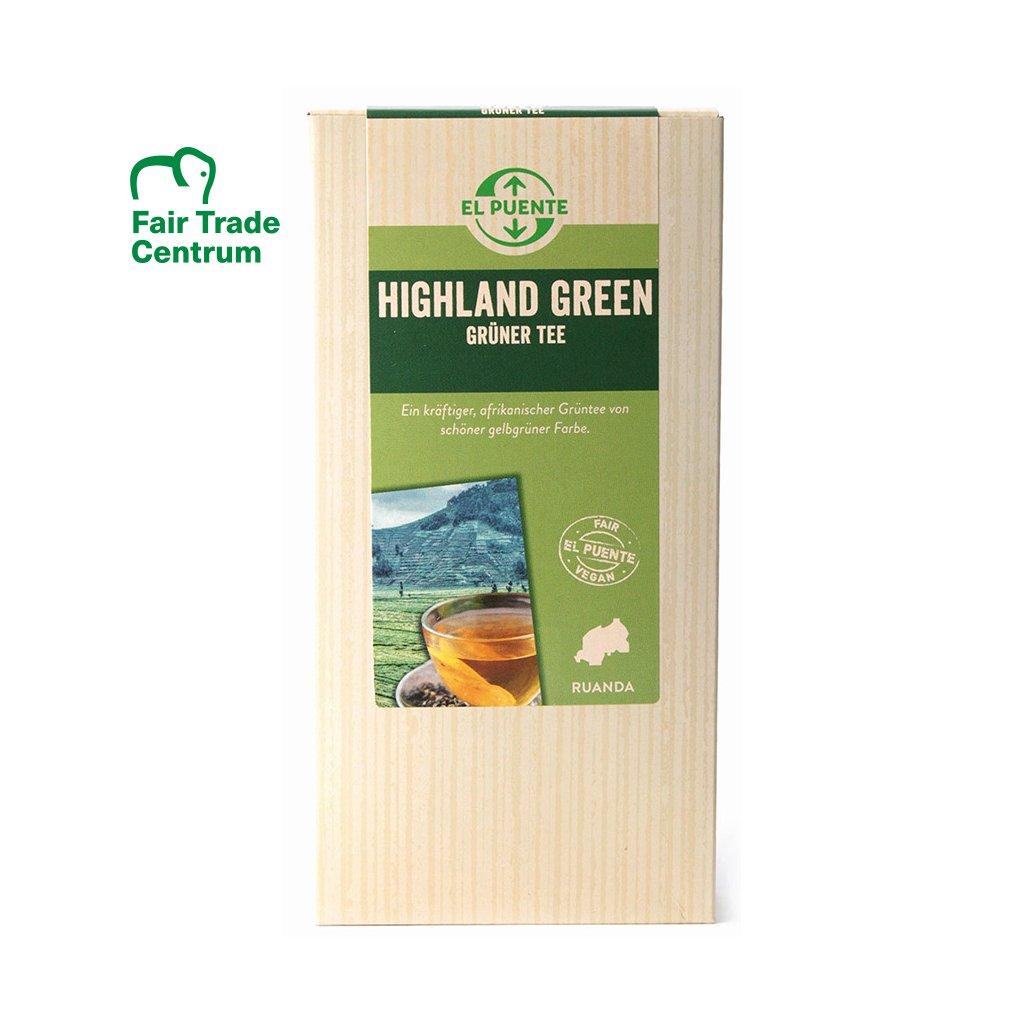 Fair Trade vysokohorský sypaný zelený čaj ze Rwandy, 135 g